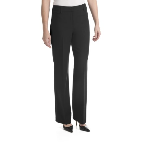 Louben Stretch Pants - Low Rise, Modern Fit (For Women) in Black