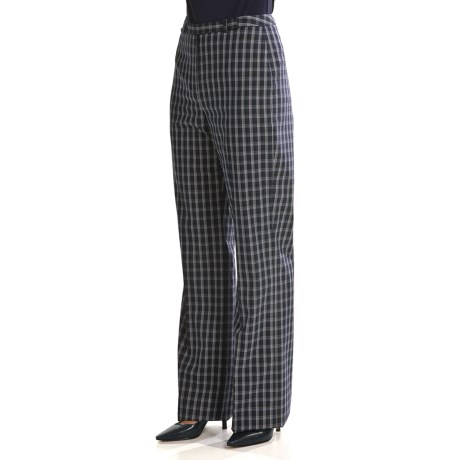 Louben Stretch Plaid Pants (For Women) in Brown