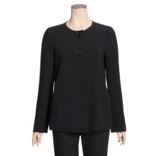 Louben Swing Jacket - Round Neckline (For Women) in Black - Closeouts