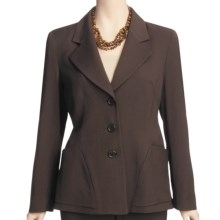 Louben Tropical Wool Jacket - Stretch (For Women) in Chocolate - Closeouts