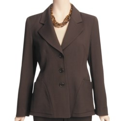 Louben Tropical Wool Jacket - Stretch (For Women) in Chocolate
