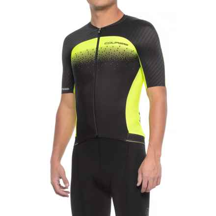 Louis Garneau Course M-2 Cycling Jersey - UPF 50, Short Sleeve (For Men) in Black/Bright Yellow - Closeouts