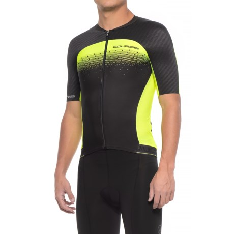 Louis Garneau Course M-2 Cycling Jersey - UPF 50, Short Sleeve (For Men) in Black/Bright Yellow