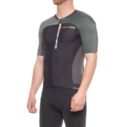 Louis Garneau Course M-2 Cycling Jersey - UPF 50, Short Sleeve (For Men) in Gray/Black - Closeouts