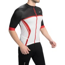 Louis Garneau Elite Carbon Cycling Jersey - UPF 35, Full Zip, Short Sleeve (For Men) in Black/White/Ginger - Closeouts