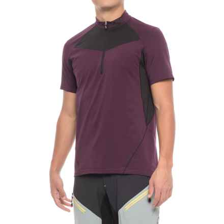 Louis Garneau Epic 2 Cycling Jersey - UPF 40, Zip Neck, Short Sleeve (For Men) in Shiraz - Closeouts