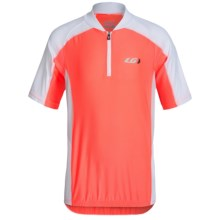 Louis Garneau Mistral Vent Cycling Jersey - UPF 50, Zip Neck, Short Sleeve (For Little and Big Kids) in Coral Mania - Closeouts