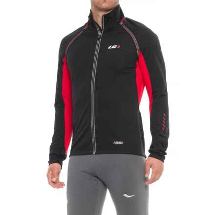 Louis Garneau Spire Polartec® Power Shield® Convertible Cycling Jacket (For Men) in Black/Red - Closeouts
