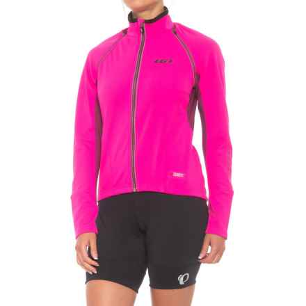 Louis Garneau Spire Polartec® Power Shield® Convertible Cycling Jacket (For Women) in Pink Glow - Closeouts