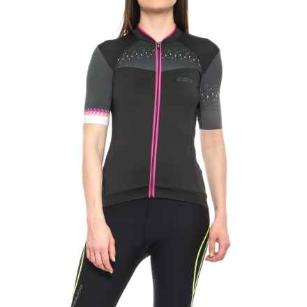 Louis Garneau Stunner RTR Cycling Jersey - UPF 50, Short Sleeve (For Women) in Black/Pink - Closeouts