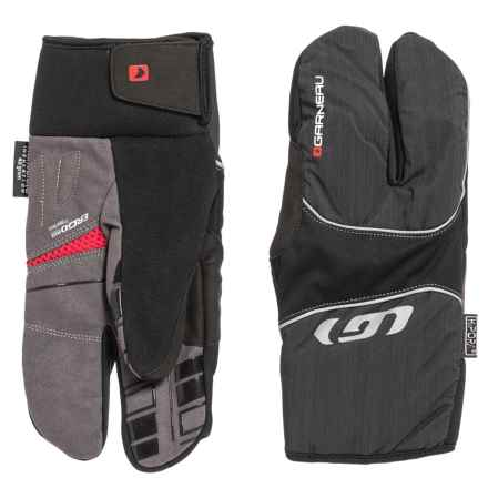 Louis Garneau Super Shield Lobster Cycling Gloves - Waterproof, Insulated (For Men) in Black - Closeouts