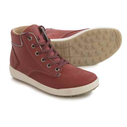 Lowa Alice LL QC High-Top Sneakers - Leather (For Women) in Burgandy/Gray - Closeouts