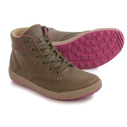Lowa Alice LL QC High-Top Sneakers - Leather (For Women) in Olive/Beere - Closeouts