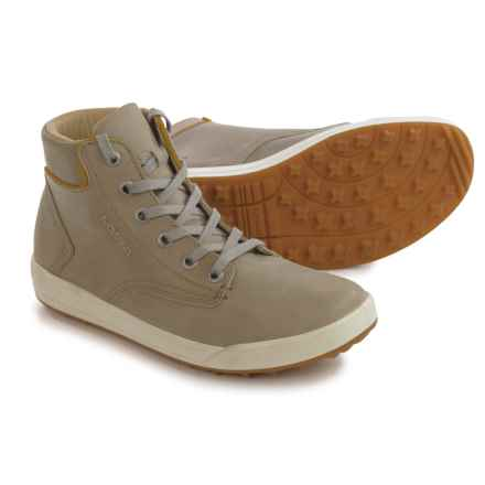 Lowa Alice LL QC High-Top Sneakers - Leather (For Women) in Stein/Gold - Closeouts