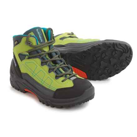Lowa Approach Gore-Tex® Mid Boots - Waterproof (For Kids) in Lime - Closeouts