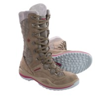 Lowa Atina Gore-Tex® Snow Boots - Waterproof, Insulated (For Women) in Taupe/Berry - Closeouts