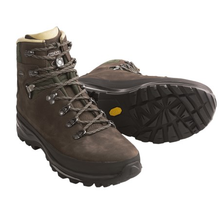 Lowa Baltoro Backpacking Boots (For Men) in Brown/Dark Green