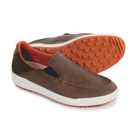 Lowa Cadiz Moc-Toe Shoes - Leather, Slip-Ons (For Men) in Brown/Orange - Closeouts