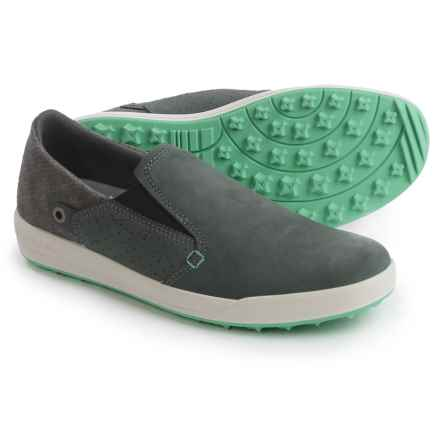 Lowa Cadiz Slip-On Shoes - Leather (For Women) in Anthracite/Jade - Closeouts