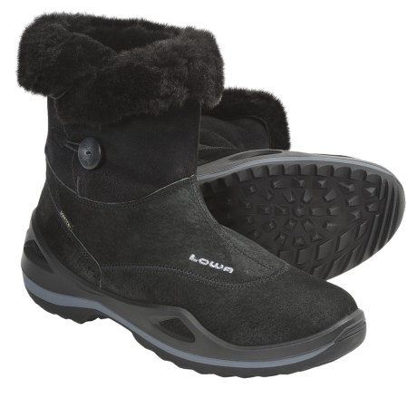 Lowa Caldera Gore-Tex® Mid Winter Boots - Waterproof, Insulated (For Women) in Black