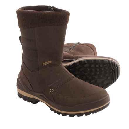 Lowa Chicago Gore-Tex® Hi Snow Boots - Waterproof, Nubuck (For Men) in Brown - Closeouts