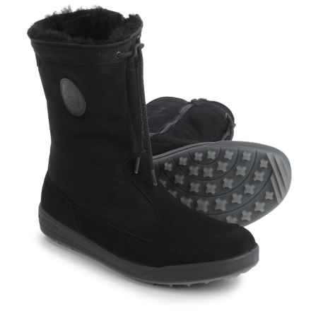 Lowa Dalarna Gore-Tex® Panda Mid Snow Boots - Waterproof (For Women) in Black - Closeouts