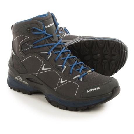 Lowa Ferrox Gore-Tex® Mid Hiking Boots - Waterproof (For Men) in Graphite/Blue