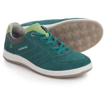 Lowa Firenze Lo Sneakers - Suede (For Women) in Petrol/Mint - Closeouts