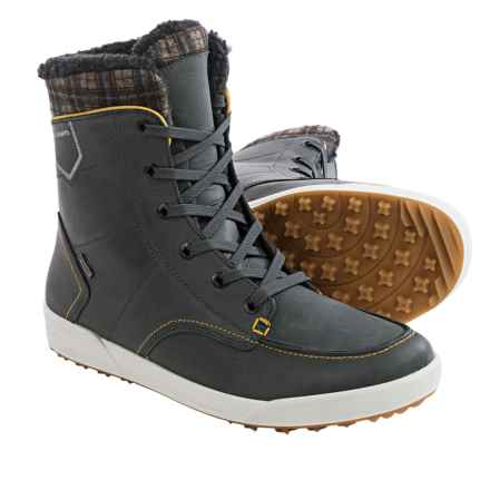 Lowa Glasgow Gore-Tex® Mid-Winter Snow Boots - Waterproof, Leather (For Men) in Anthracite/Gold - Closeouts