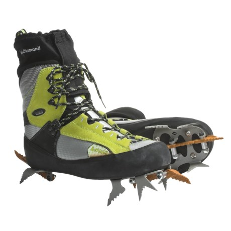 Lowa Ice Comp Gore-Tex® Ice Climbing Boots - Waterproof (For Men) in Lime/Silver