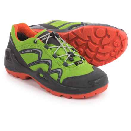 Lowa Innox Gore-Tex® Lo Hiking Shoes - Waterproof (For Little and Big Kids) in Lime/Orange - Closeouts