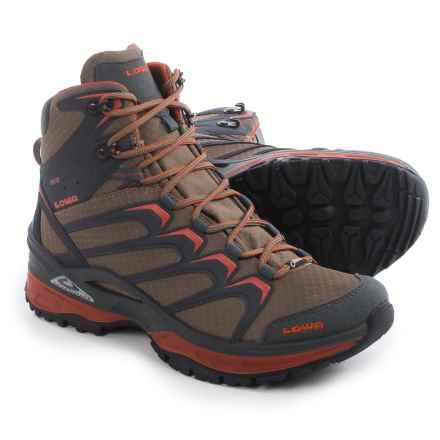 Lowa Innox Gore-Tex® Mid Hiking Boot - Waterproof (For Men) in Taupe/Rust - Closeouts