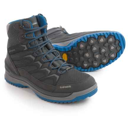 Lowa Innox Ice Gore-Tex® Mid Boots - Waterproof (For Men) in Anthracite/Blue - Closeouts