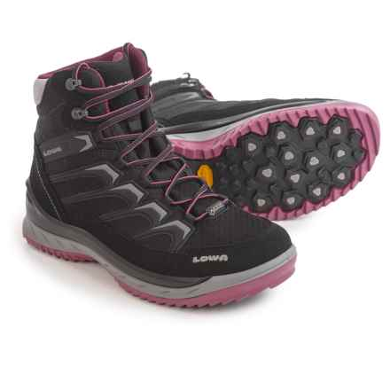 Lowa Innox Ice Gore-Tex® Mid Boots - Waterproof (For Women) in Black/Berry - Closeouts