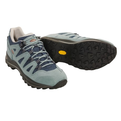 Lowa Jannu Lo Trail Shoes (For Women) in Ice Blue / Blue