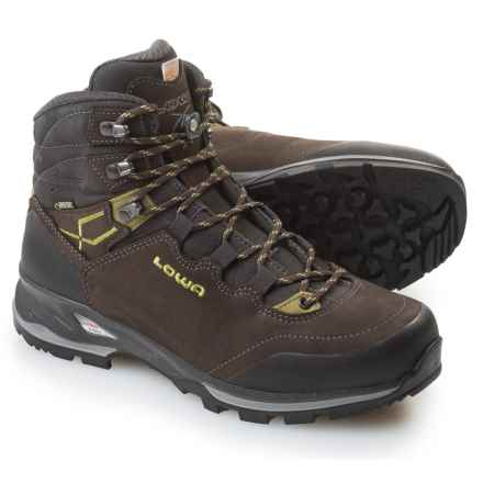 Lowa Lady Light Gore-Tex® Hiking Boots - Waterproof, Nubuck (For Women) in Slate/Kiwi - Closeouts