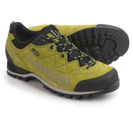 Lowa Laurin Gore-Tex® Lo Hiking Shoes - Waterproof, Suede (For Men) in Lime - Closeouts