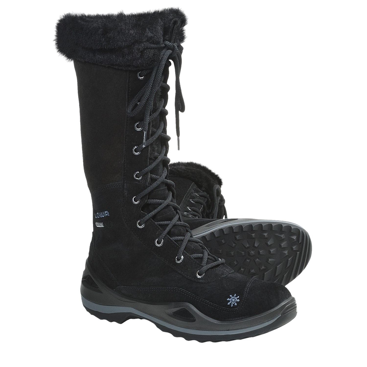 Model Gore Tex Hiking Boots Waterproof For Women In Black Black Pictures To