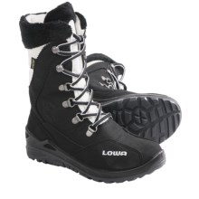 Lowa Lola Gore-Tex® Hi Hiking Boots - Waterproof, Insulated (For Girls) in Black/White - Closeouts