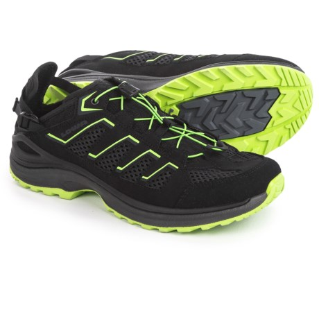 Lowa Madison Low Water Shoes (For Men) in Black/Lime