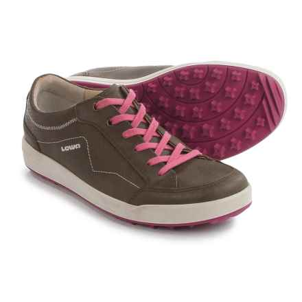Lowa Merion Sneakers - Waxed Nubuck (For Women) in Olive/Berry - Closeouts