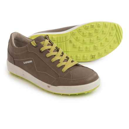 Lowa Merion Sneakers - Waxed Nubuck (For Women) in Taupe/Lime - Closeouts