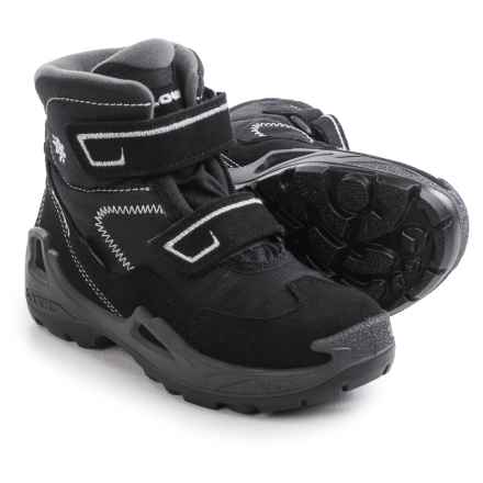 Lowa Milo Gore-Tex® Mid Boots - Waterproof (For Kids) in Black/Grey - Closeouts