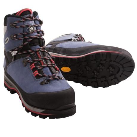 Lowa Mountain Expert Gore-Tex® Mountaineering Boots - Waterproof (For Women) in Blue Grey/Black