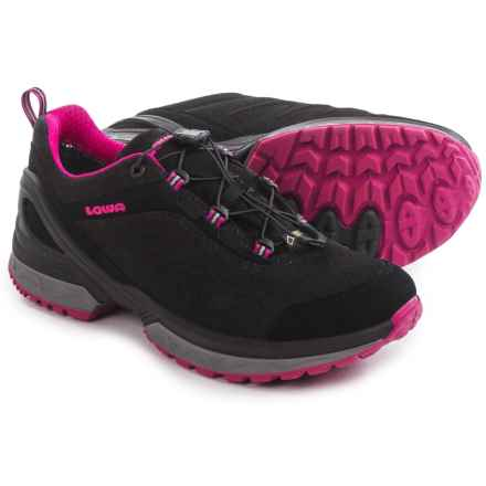 Lowa Onyx Gore-Tex® Lo Hiking Shoes - Waterproof (For Women) in Black/Fuchsia - Closeouts