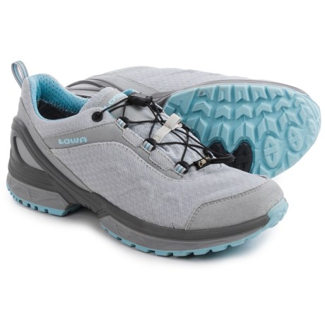 Lowa Onyx Gore-Tex® Lo Hiking Shoes - Waterproof (For Women) in Gray/Ice Blue
