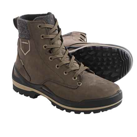 Lowa Oslo Gore-Tex® Mid-Winter Snow Boots - Waterproof, Nubuck (For Men) in Brown/Beige - Closeouts