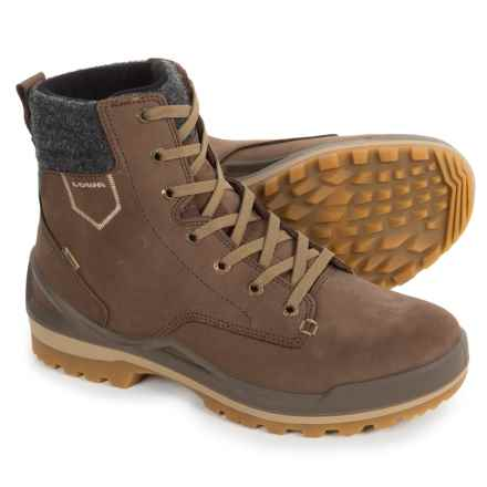 Lowa Oslo Gore-Tex® Mid-Winter Snow Boots - Waterproof, Nubuck (For Men) in Brown/Olive - Closeouts