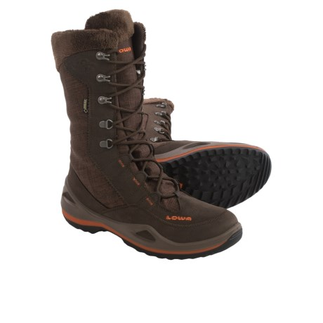 Lowa Paganella Gore-Tex® Winter Boots - Waterproof, Insulated (For Women) in Brown/Orange