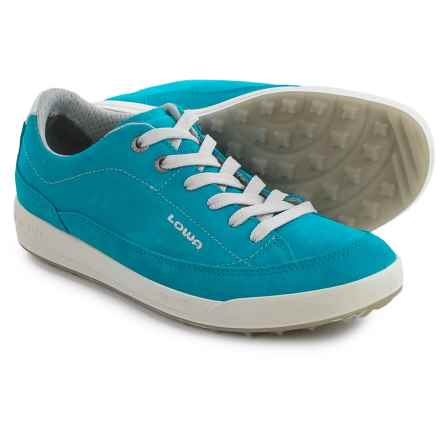 Lowa Palermo Sneakers - Suede (For Women) in Turquoise - Closeouts